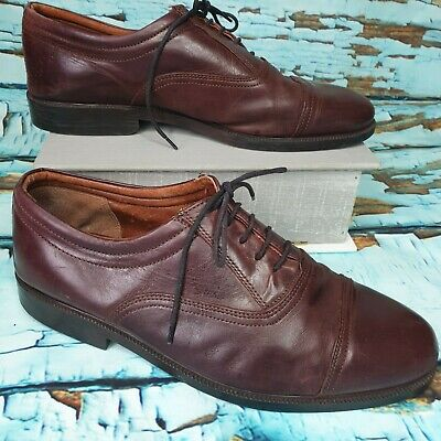 Mens Oxblood Clarks Leather Brogues Smart Casual Shoes Size Uk 10 Lace Up