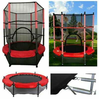WestWood  4.5 FT Children's Mini Trampoline With Safety Net Kids Rebounder Red