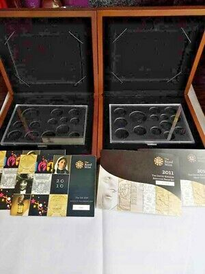 Royal mint 2010 and 2011 Executive Proof Coin Box NO COINS