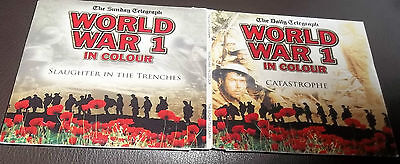 DVD x2 - WORLD WAR 1 IN COLOUR - CATASTROPHE / SLAUGHTER IN THE TRENCHES