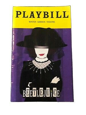 Beetlejuice Broadway Musical January 2020 Playbill w/ Sophia Anne Caruso