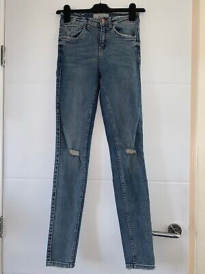 Bnwot New Look Distressed Light Blue Skinny Jeans Size 6