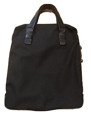 ro Bag Tote computer Bag black made with water-repellent nylon with leather