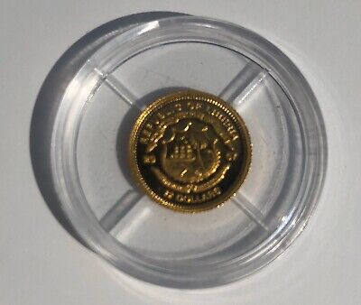 Republic Of Liberia Gold Coin 12 Dollar