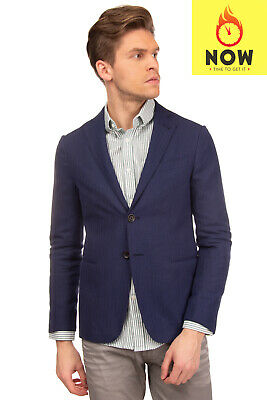 RRP €785 ARMANI COLLEZIONI Blazer Jacket Size 46 / S Partly Lined made in Italy