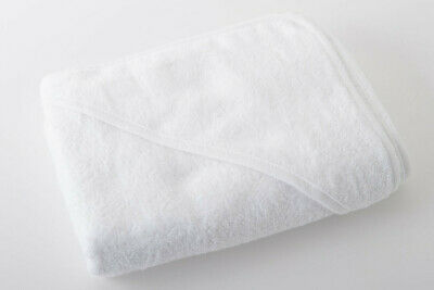 2 x Luxury 100% Egyptian Cotton Baby Hooded Towel without Ears 75 x 75 cm