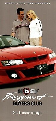Holden HSV Frequent Buyers Brochure VY VZ era