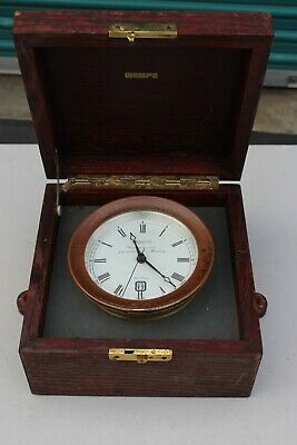 Vintage Marine Chronometer By Wempe Chronometerwerke Made In Hamburg Germany