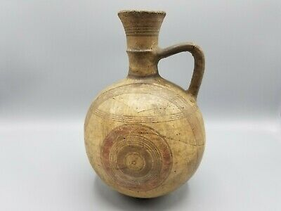 Ancient Cypriot Cypro-Archaic Terracotta Jug Similar To Metropolitan Museum Item