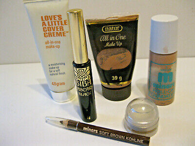 True Vintage 1970's Make Up English BIBA Miners Boots Love's Ideal Prop Display