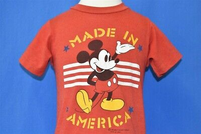 vintage 80s MICKEY MOUSE WALT DISNEY STARS MADE IN USA t-shirt BABY 18-24 MO