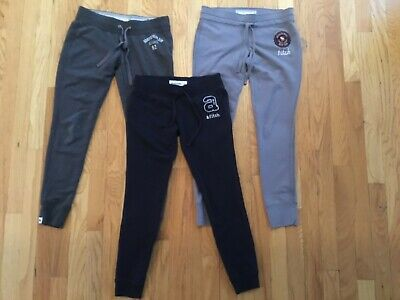 Girls Abercrombie & Fitch Jogger Sweat Pants Lot of 3 Size Extra Large