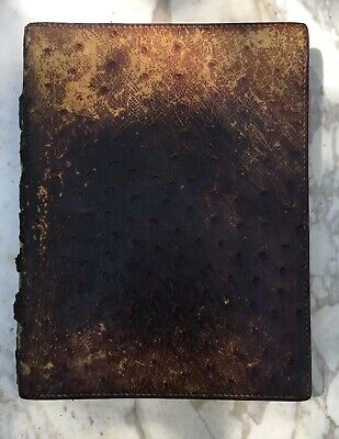 VTG HERMES PARIS Ostrich Skin Leather Planner 7x9 France BARRIE CHASE COLLECTION