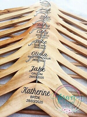 Personalised Timber Wedding Coat Hangers