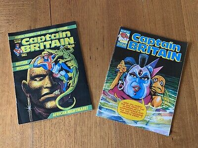 Captain Britain Marvel #10 And #12 UK 1985