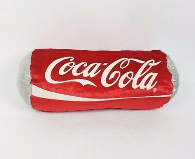 "Coca Cola Soda Can Plush Pillow 8"" x 13"" Red White Silver 2011"
