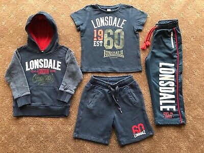 Boys Lonsdale Track Outfit, Size 3-4