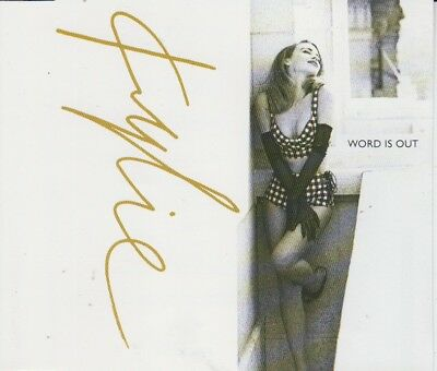 Kylie Minogue 3 track cd single Word Is Out 1991