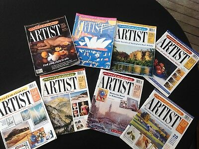 8 magazines - Australian Artist - assorted issues