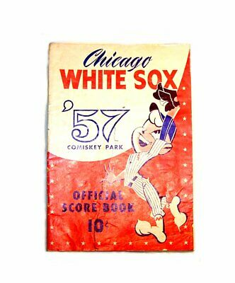 1957 Chicago White Sox Cleveland Indians Baseball Program VGX Tickets Cubs Ofr