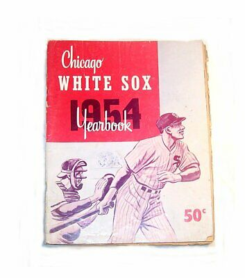 1954 Chicago White Sox Baseball Yearbook VG Program Ticket Cubs Bears Ofr