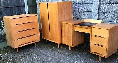 Very Rare  Retro Stag C Range John & Sylvia Reid Oak Bedroom Suite Fab Condition