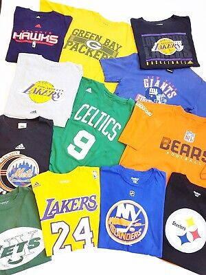 X20 Vintage Wholesale Pro Sports Branded T-Shirts Joblot