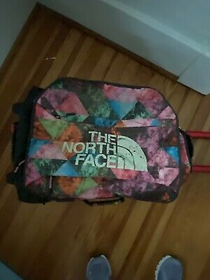 """North Face Bag Multi-Color Rolling Wheeled Duffel Luggage 22"""" x 14"""" x 11"""""""