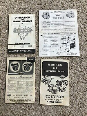 1957 Clinton GEM engine models,  information packet.