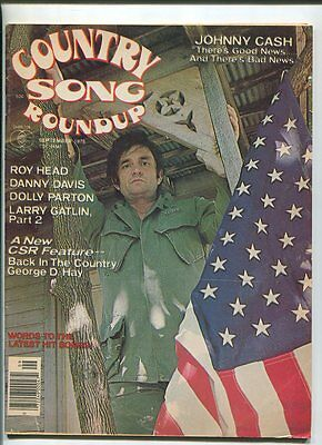 Country Song Roundup  Sept 1976 Dolly Parton Johnny Cash Larry Galtin   MBX86