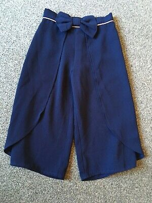 Ted Baker Girls Navy Bow Cullottes, Age 4 Years
