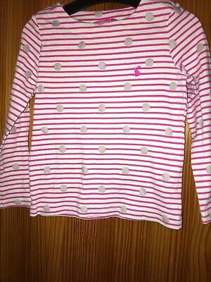 Joules Girls Pink Top T Shirt  Long Sleeve Top Age 4 Years