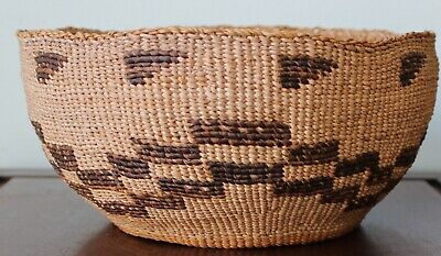 Antique Native American Basket West Coast Perfect 8.5 Inch Wide