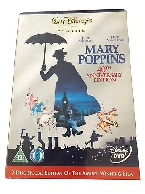 Mary Poppins DVD (2005) 40th Anniversary cert U 2 discs