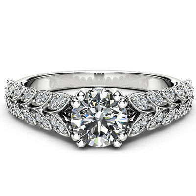 Elegant Rings for Women Wedding Ring 925 Silver Round Cut White Sapphire Size 6