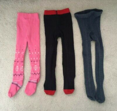 Next Gymboree 3 Tights Bundle 12-18 Months Pink Blue Navy Girls Cable Knit 18-24