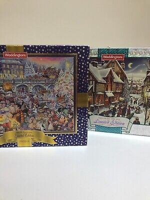 2x Waddingtons Limited Edition 1000 Piece Jigsaw Puzzles Numbers 4 & 10