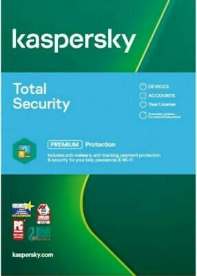 Kaspersky Total Security 2020 Multi-Device 3 User / 1 Year | Multi Languages