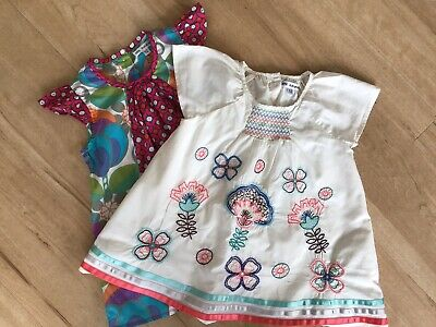 2 Girls Marks And spencer Tops Age 4-5 Years