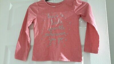 Girls Pink Long Sleeved Top by Young Dimension - Age 5-6 yrs