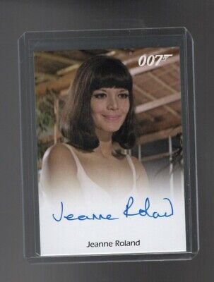 James Bond Archives Final Edition Jeanne Roland Autographed card
