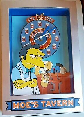 """GOOD COND! The Simpsons Moe's Tavern """"It's Duff Time"""" Wall Clock"""