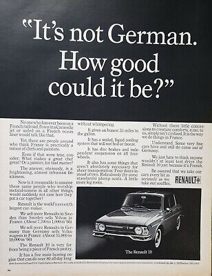 Lot of 3 Vintage 1967 Renault R-10 Ads How Good Could it Be?