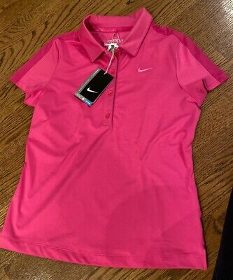 NIKE Golf DRI-FIT Oakmont Logo Pink Girls L NWT