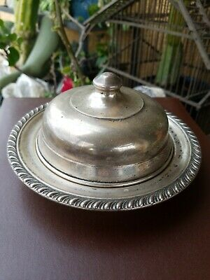 MANCHESTER SILVER COSterling Silver Covered Cheese/Butter Dish. 158 grams