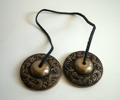 Tibetan meditation cymbals - Very good condition -Sell for Charity