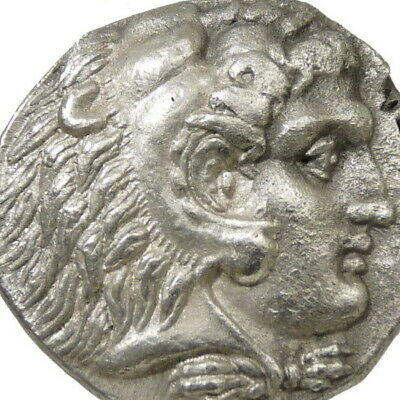 ALEXANDER the GREAT Herakles type Philip III Ancient Greek Silver Tetradrachm