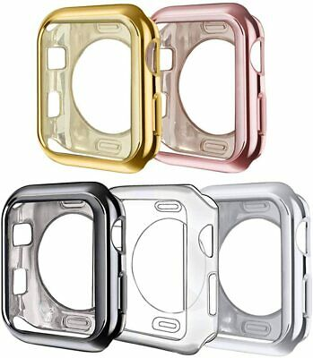 5 Pack Metallic Corner & Edge Bumper Protective Cover for Apple Watch
