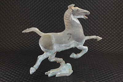 chinese old bronze hand carved horse fly statue figure collectable gift