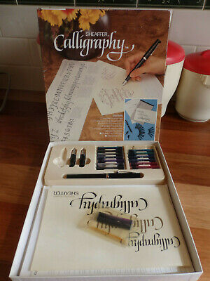 2 Retro Sheaffer Calligraphy Sets-  Fountain Pen(3 nibs), inks & spare nibs,inks